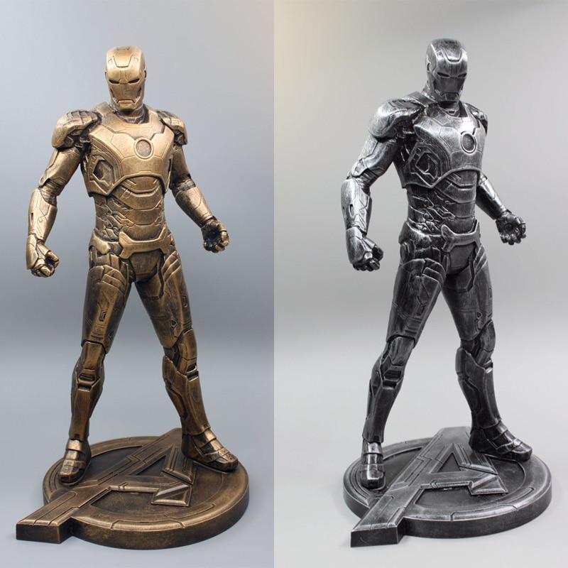 1pc Iron Man 1/5 1:5 MARK VII MK43 29CM Imitation Ferrum Or Copper Resin Bust Model MK43 Decoration Statue 1 5