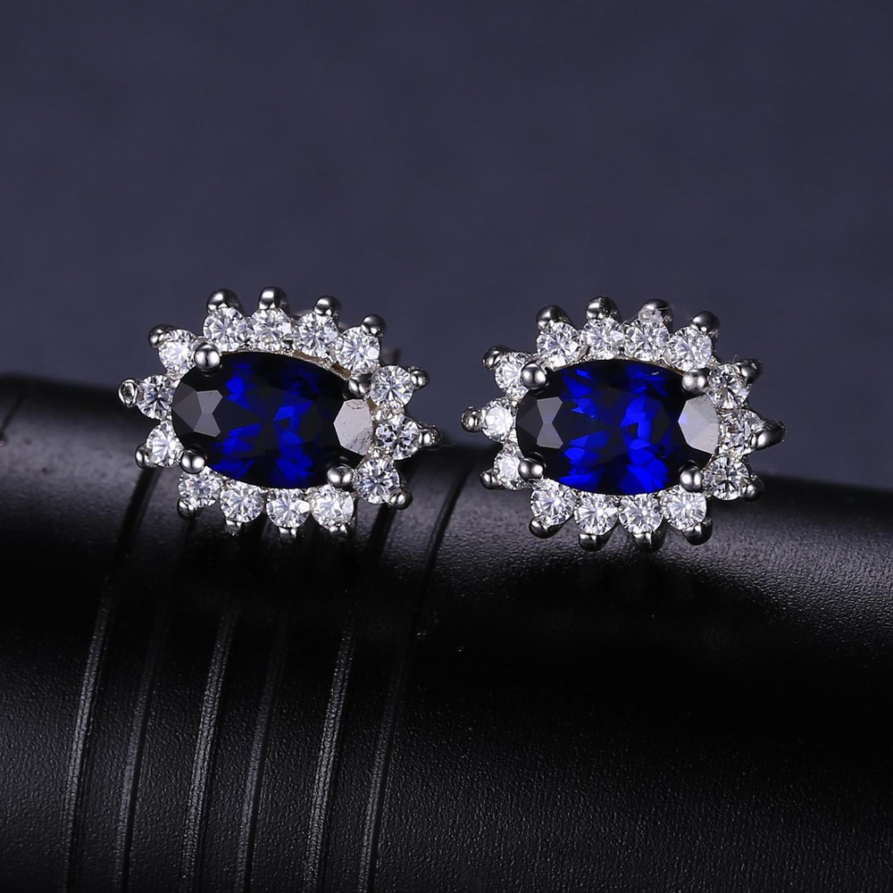Aliexpress : Buy Jewelrypalace Princess Diana William Kate Middleton's  15ct Blue Created Sapphires Stud Earrings 925 Sterling Silver Jewelry From