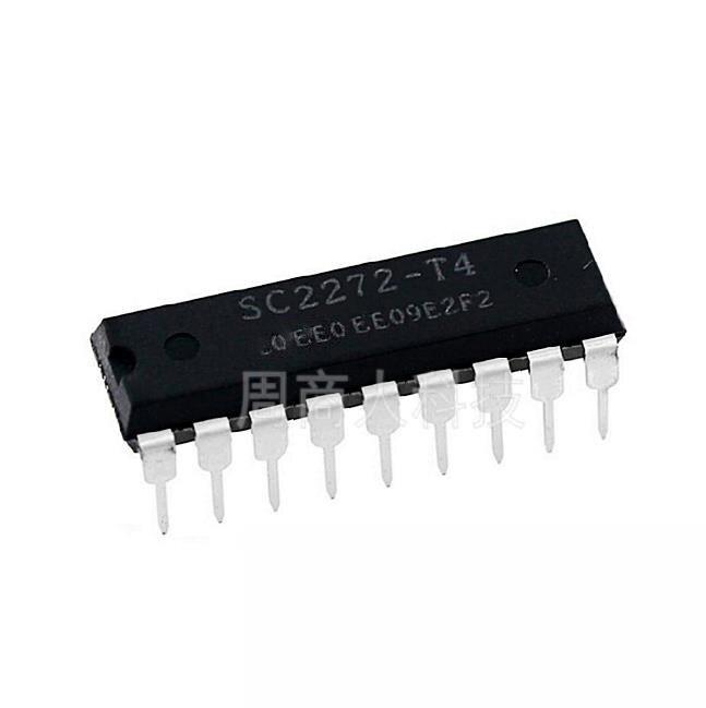 Free shippin 10pcs/lot SC2272-T4 SC2272 remote control receiver decoder chip DIP switch DIP-18 original authentic