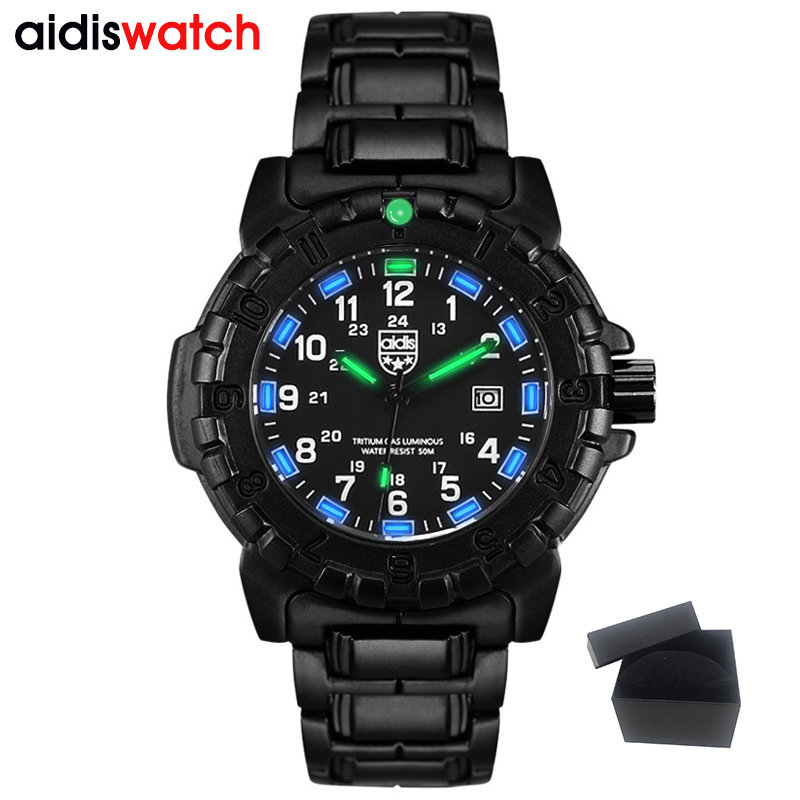 Top Fashion Student Casual Men's Noctilucent Quartz Wristwatch Waterproof Outdoor Sports Military Form Watch Alloy watchband peppa pig children quartz watch fashion pink waterproof student kid wristwatch 118970
