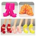 10 pairs mix assorted toys moda dos saltos altos sandálias de salto sapatos boneca vários estilos para acessórios toys dolls para a menina