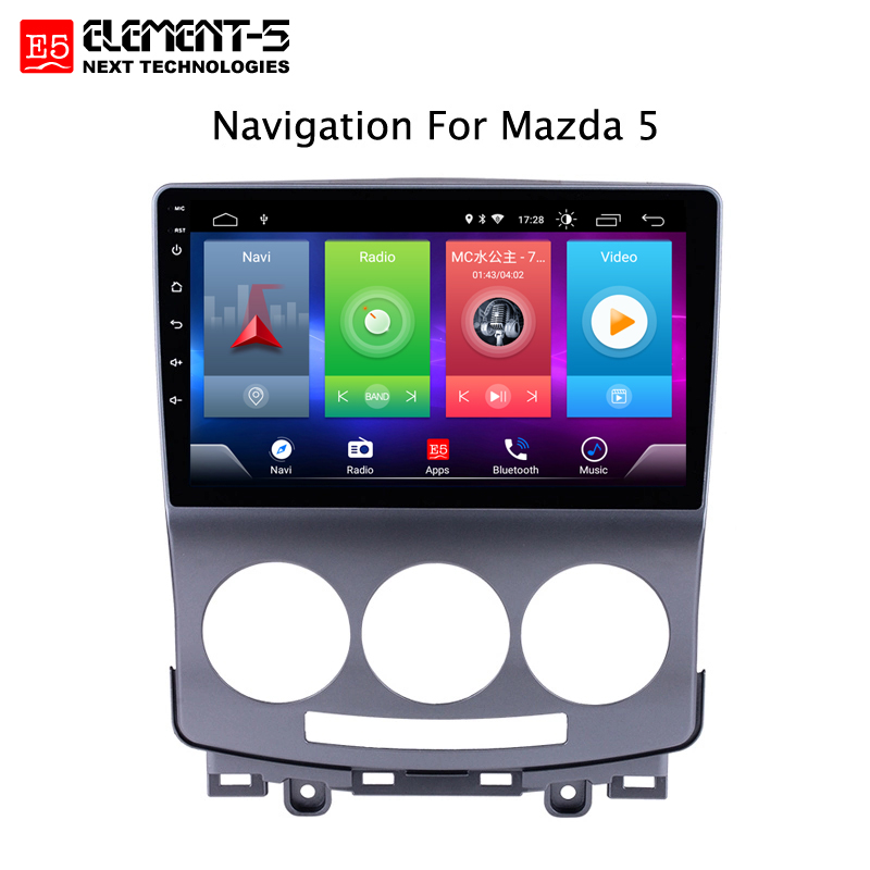 Car Android 8.1 Multimedia Player for <font><b>Mazda</b></font> <font><b>5</b></font> 2005-2010 <font><b>GPS</b></font> Navigation Device bluetooth steering wheel control support image
