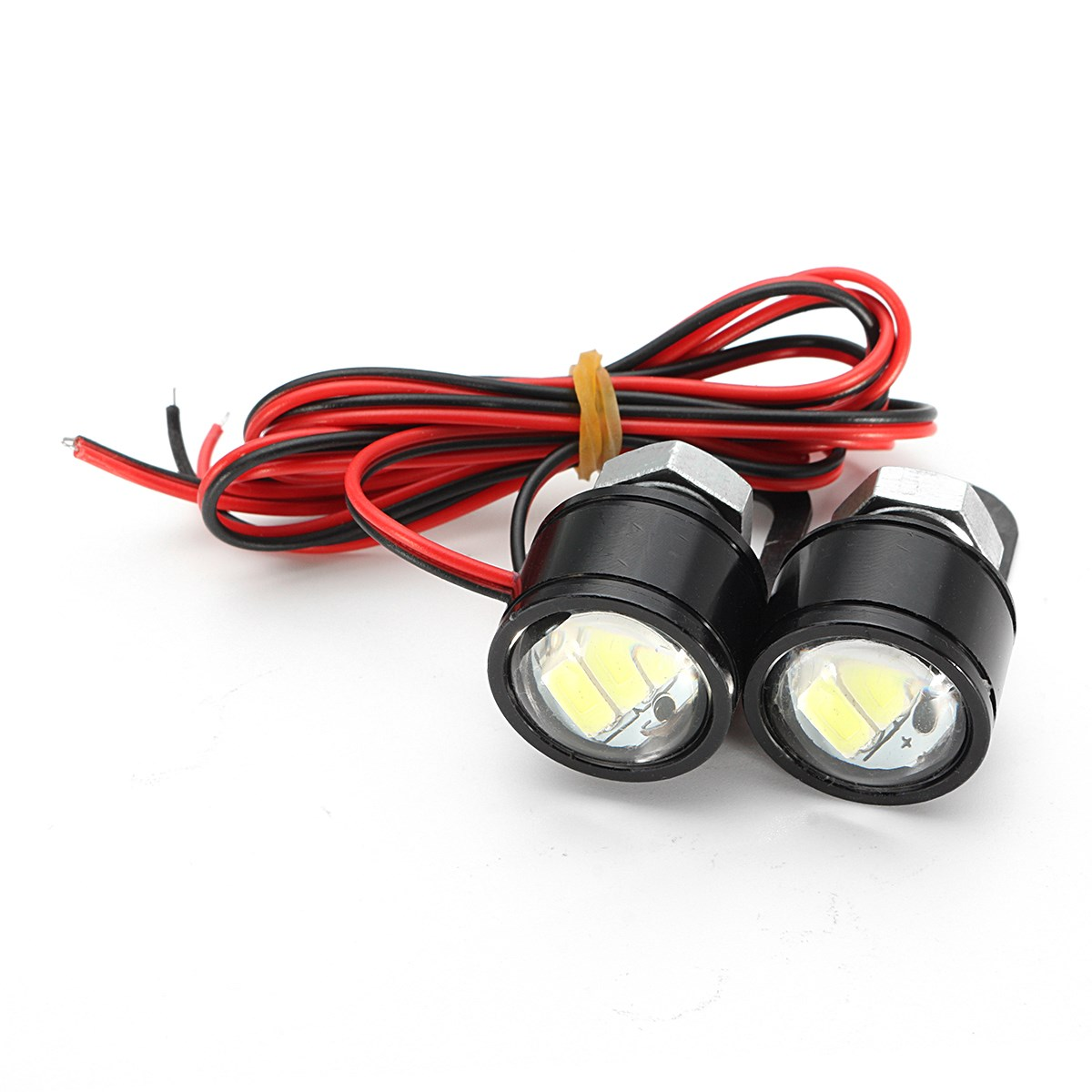 2PCS 12V Motorcycle Contant Bright Eagle Eye LED Daytime Running Light Lamp Rearview Mirror Decor
