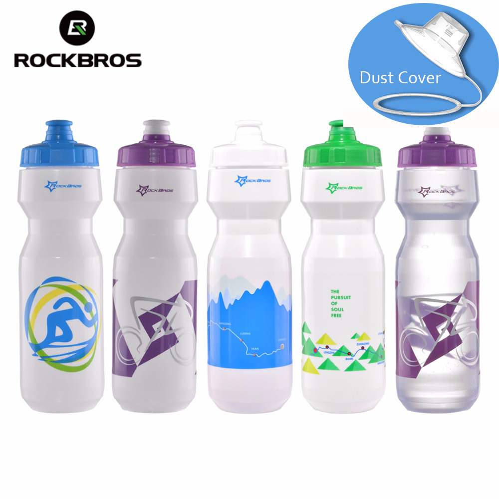 ROCKBROS Cycling Bike Water Bottle 750 ML Bicycle Portable Kettle Water Bottle Plastic Outdoor Sports Mountain Bike Drinkware