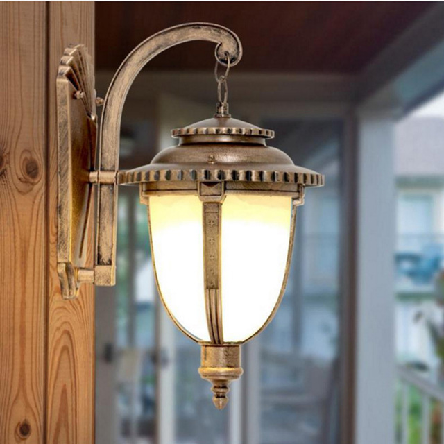 Bronze Wall Lamp Chinese Led Lights Indoor Decorative Outdoor Lighting Shades Vintage Exterior Luminaire