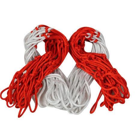 commercio all'ingrosso professionale reti di nylon basket basket all'aperto training net red & white 40 pz/lotto spedizione gratuita