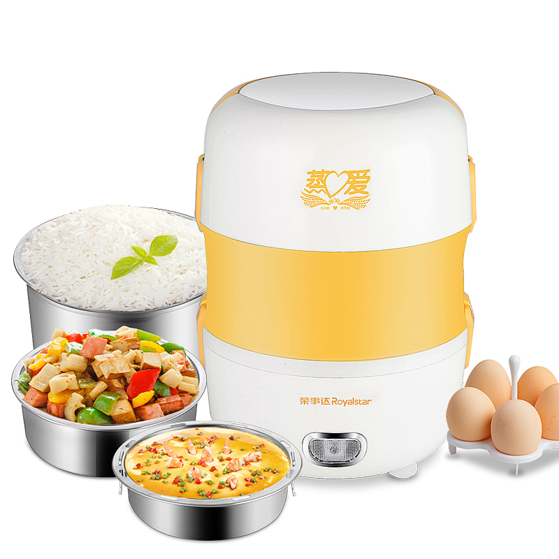 Electric Lunchbox Multi-layer Plug In Heating Lunch Box Portable Hot Rice Cooker Steamed Lunch Box Insulation Sealed Fresh 2L homeleader 7 in 1 multi use pressure cooker stainless instant pressure led pot digital electric multicooker slow rice soup fogao