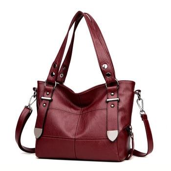 Bags For Women Luxury Handbag Female Brand Designer Shoulder Bag Casual Shopping Tote PU Leather Handbags Double Arrow Soild Bag 1