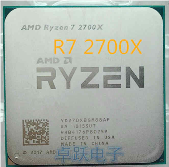 AMD Ryzen 7 2700X CPU Processor 8Core 16Threads AM4 4.3GHz 16MB TDP 105W Cache 14nm DDR4 2667MHZ r7 2700x Desktop