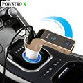 Display LCD Carro MP3 Player de Música sem fio Receptor De Áudio Bluetooth Transmissor FM Suporte Rádio Cartão TF Porta USB Mic