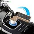 Pantalla LCD Reproductor de Música MP3 de Audio Bluetooth Receptor inalámbrico para Coche Transmisor FM Radio Apoyo TF Tarjeta USB Puerto Mic