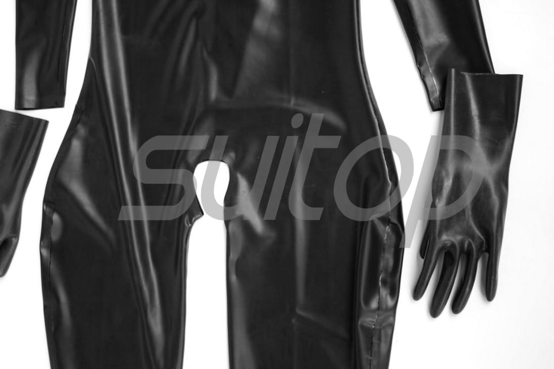 Entrejambe Des Sexy Gants Et Latex Buste Chaussettes Avec Trous Ouvert Catsuits XXFB6w