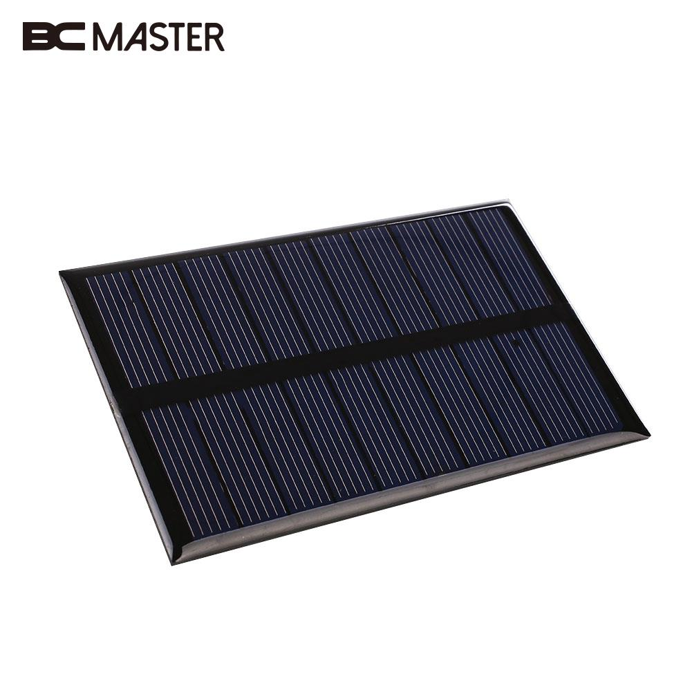BCMaster 10.9x6.8x0.3cm Portable 5V 1.2W Solar Power Panel Bank 240mA Solar Panel Charger for Battery Cell PhoneToys DIY Home