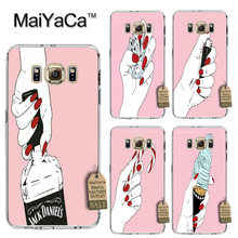 MaiYaCa Funny cartoon middle finger wine bottle Printing phone Cover Case for Samsung S3 S4 S5 S6 S6 S7 S8 edge plus(China)