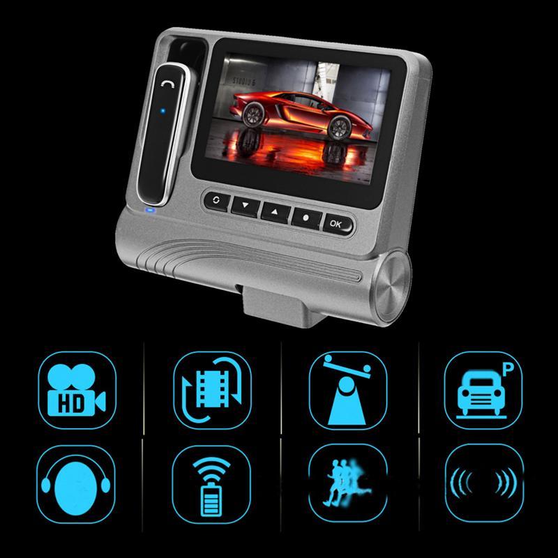 KROAK Novatek 96223 FHD 1080P 3.0 Inch Car DVR With Bluetooth Earphone Dash Cam HD Video Recorder Night Vision
