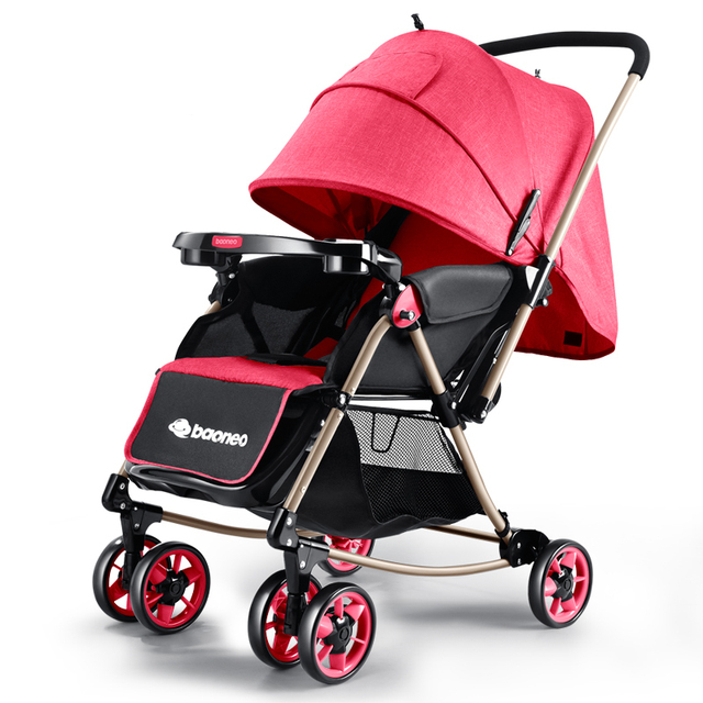 High Quality Light Weight Baby Stroller Folding Baby Car High Landscape Shockproof Portable Rocking Chair Prams For Newborns C01