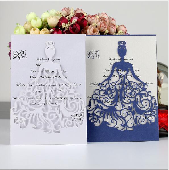 50 Pcs Lot Indah Indah Gadis Paty Pernikahan Kartu Undangan Ulang