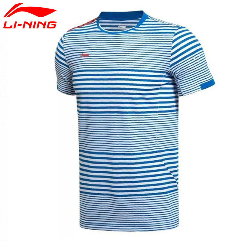 Li-ning hommes PING YU respirant BadmintonT-chemise Match manches courtes séchage rapide confort t-shirt AAYK075 MTS2006