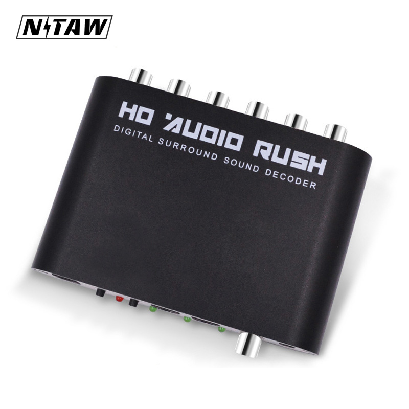 DTS AC3 5.1 CH SPDIF Coaxial Digital Audio DTS/AC-3 to 5.1 Analog Decoder Converter RCA Output Adapter Surround Sound Decorder doitop dolby dts ac 3 optical to 5 1 channel rca analog converter stereo dac digital 5 1 audio gear decoder sound spdif decoder