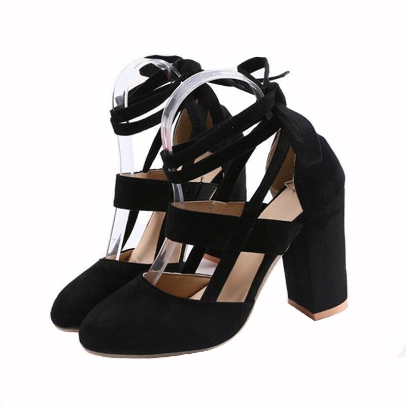 2018 las nuevas mujeres de Washion tacones boda fiesta zapatos de mujer zapatos de plataforma de moda Zapatos de tacón alto 11 cm de negro 10 tamaños