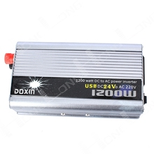 Free shipping!! 1200W 1200 WATT Car Power Inverter Modified Sine Wave Car Boat 24V DC In 220V AC Out