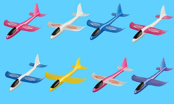 1pc set 48 47cm DIY Outdoor Sports Plane For Hand Throw Flying Glider Planes Toys Kids Foam Aeroplane Model Party in Diecasts Toy Vehicles from Toys Hobbies