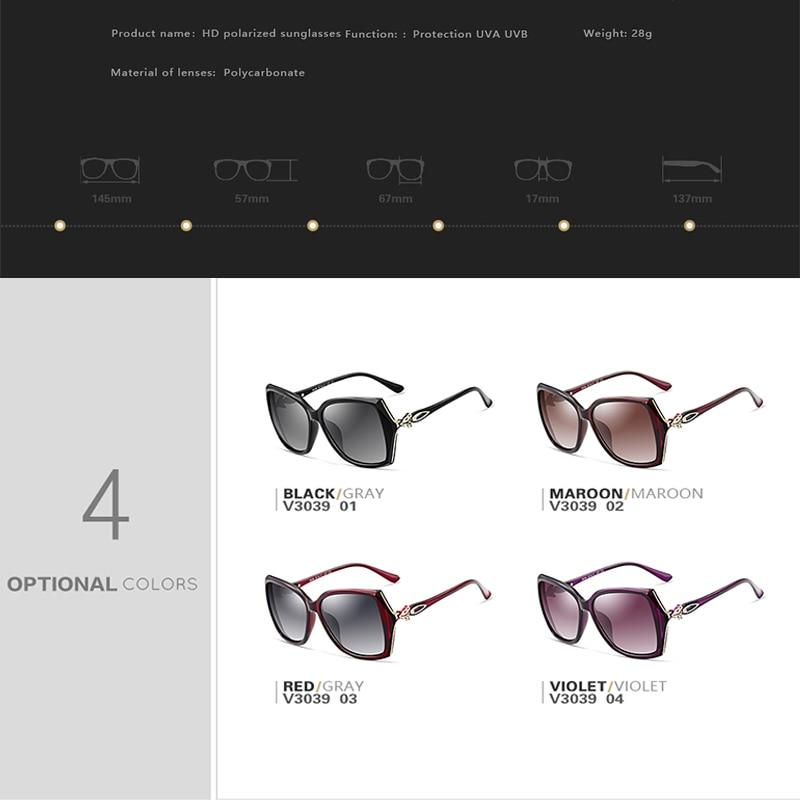 VEITHDIA Womens Retro Sun glasses Polarized Luxury Ladies Brand Designer Sunglasses Eyewear For Women Female V3039 in Women 39 s Sunglasses from Apparel Accessories