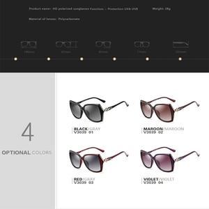 Image 5 - VEITHDIA نظارة شمسية للسيدات ذات تصميم كلاسيكي مستقطب نظارة شمسية فاخرة للسيدات V3039