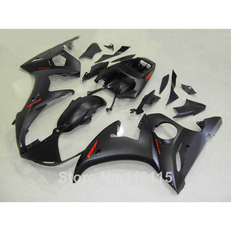 ABS full fairing kit fit for YAMAHA YZF-R6 2003 2004 2005 all matte black YZF R6 fairings set 03 04 CZ38 hot sales yzf600 r6 08 14 set for yamaha r6 fairing kit 2008 2014 red and white bodywork fairings injection molding