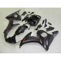 ABS full fairing kit fit for YAMAHA YZF R6 2003 2004 2005 all matte black YZF R6 fairings set 03 04 CZ38