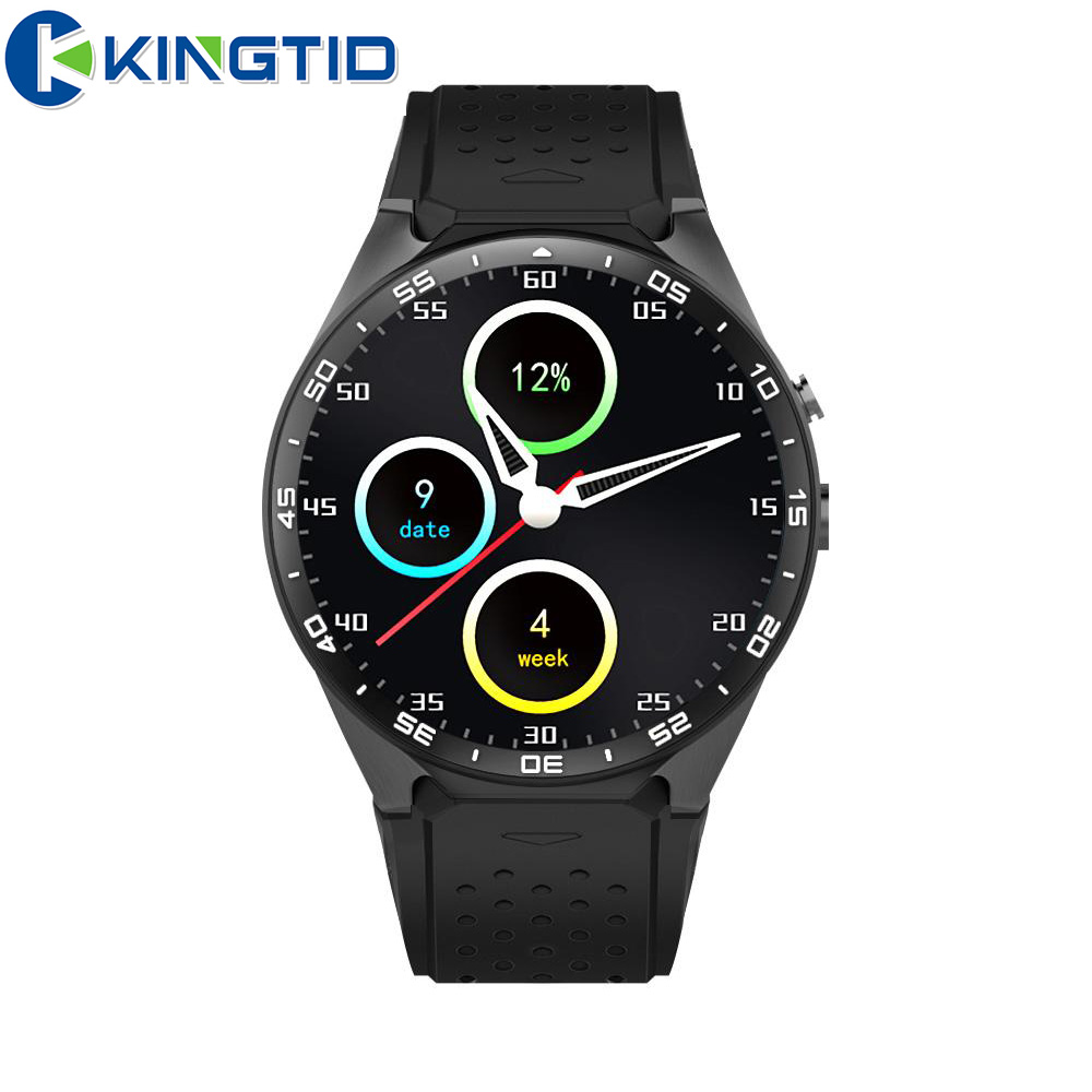 KW88 Smart Watch Phone BT4.0 MTK6580 Quad core Heart Rate Nano Sim card GPS Google Play 4GB 2.0MP Camera 3G WiFi for Android iOS kw88 smart watch android 5 1 os quad core 400 400 smartwatch mtk6580 support 3g wifi nano sim card gps heart rate wristwatch
