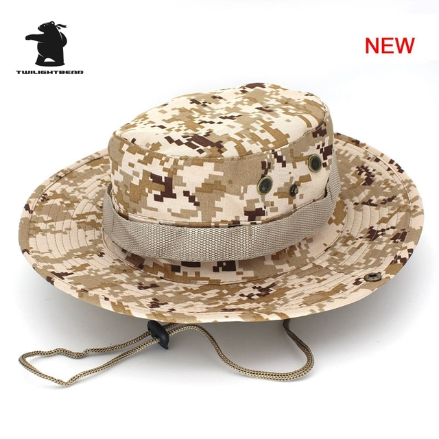 MULTICAM HAT ARMY BOONIE HAT 26 Colors Military Camouflage Bucket Hats Hunting Hiking Fishing Climbing Cap AF23 2