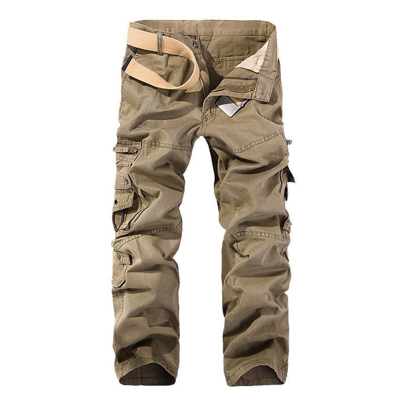 MISNIKI 2019 New Autumn Men Cargo Pants Straight Casual Multi Pockets Tactical Pants 28-40 AXP138