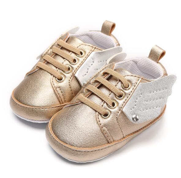 ROMIRUS New Angel wings style toddler baby moccasins shoes soft sole first walker sneaker sport shoes for baby girls and boys