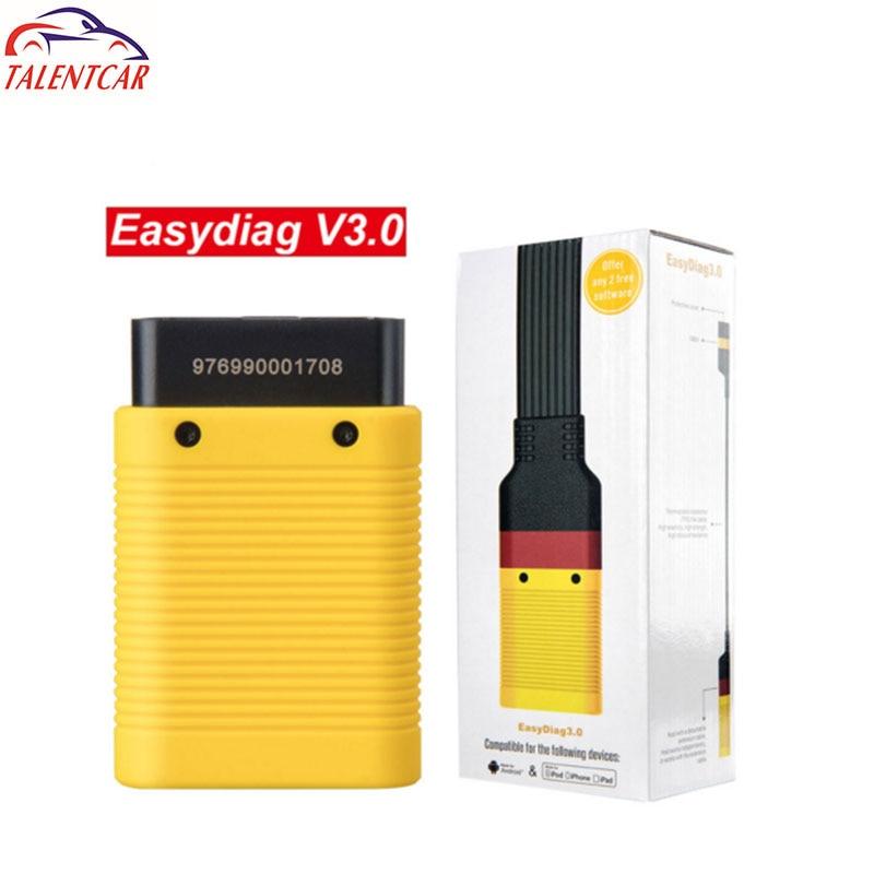 Per il lancio EasyDiag 3.0 o 3.0 Plus. OBDII Lettore di Codice Bluetooth Android Scanner Strumento di Diagnostica Cavo OBD2 Esteso X431 Facile Diag
