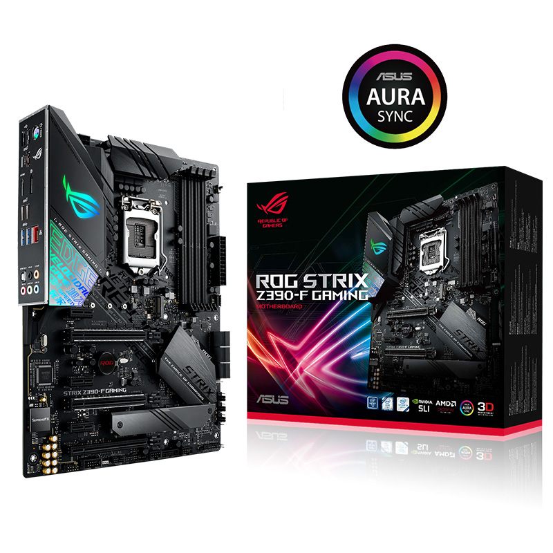 ASUS ROG STRIX Z390-F GAMING Desktop motherboard LGA1151 64GB 4DDR4 ATX motherboard supports I9 <font><b>9900K</b></font> 9700K used motherboard image