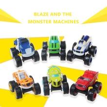 6 шт./партия Россия чудо-машины Blaze игрушки автомобиль Трансформация игрушки с оригинальной коробкой лучшие подарки для детей