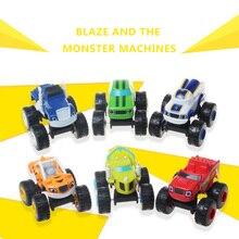 6 ชิ้น/เซ็ตรัสเซียMiracleรถยนต์Blazeของเล่นรถTransformationของเล่นต้นฉบับกล่องของขวัญที่ดีที่สุดสำหรับเด็ก