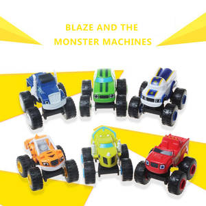 6 PCS/SET miracle Blaze Toys Vehicle Car Transformation