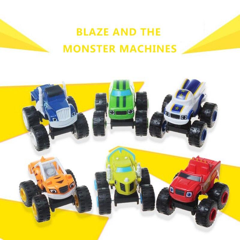 6 unids/set Rusia milagro coches Blaze juguetes vehículo transformación juguetes con caja Original Mejores Regalos para niños