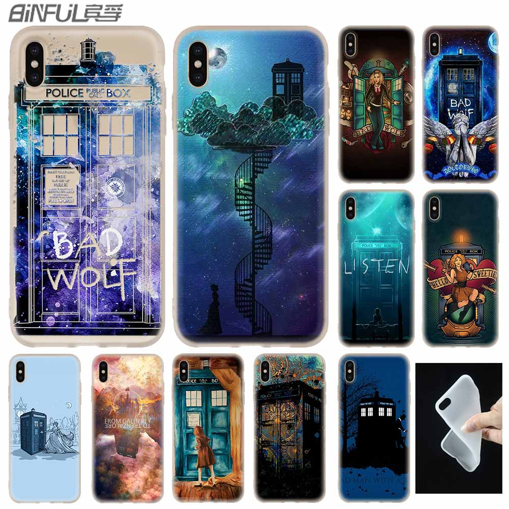 Cellphones & Telecommunications Maiyaca Doctor Who Tardis Matt Smith For Iphone 4s Se 5c 5s 6s 7 8 Plus X Xr Xs Max Black Soft Shell Phone Case Rubber Silicone