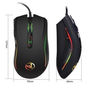 Image 5 - HXSJ 新色発光ゲーミングマウス 7 ボタン 3200 dpi オフィスノート pc usb マウス abs 材料