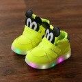 Световой ребенок дети тренер мода СВЕТОДИОДНОЕ освещение детская обувь Прекрасные дети кроссовки высокого качества мальчик теннис девушки сапоги