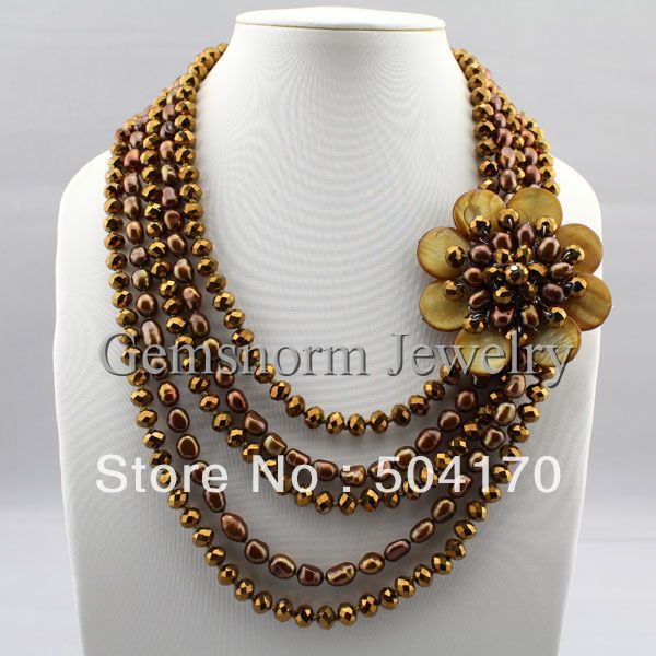 Aliexpress Com Buy Fantastic Baroque Pearl Necklace
