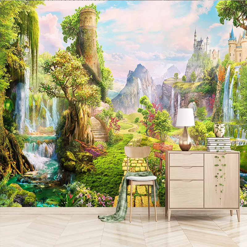 European Modern Landscape Scenery Large Murals Wallpaper Living Room Bedroom Backdrop Fresco Wall Cloth Wall Paper For Wall 3 D