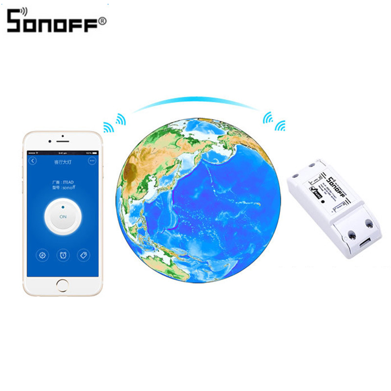 Image 5 - Sonoff Smart Wifi Switch DIY Smart Wireless Remote Switch Domotica Wifi Light Switch Smart Home Controller Work with Alexa-in Home Automation Modules from Consumer Electronics