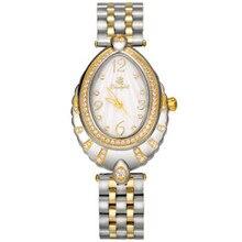 Oval butterfly buckle sapphire vidro de quartzo das mulheres relógios das mulheres watchstone beautylok digital roman relógios de marca branca