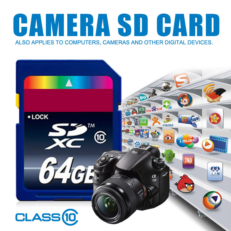 Hot sale SD Memory Card 32GB 16GB 8GB SDHC Card SD 64GB SDXC Card Flash For Digital Camera Camcorder DV(China (Mainland))