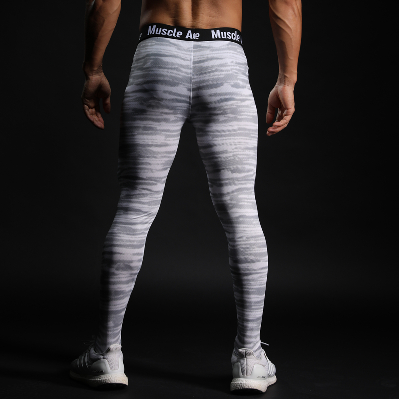 a6b3059d43b410 Men Compression Tight Leggings Running Sports Male Gym Fitness Pants Quick  dry Trousers Workout Training Crossfit Yoga Bottoms