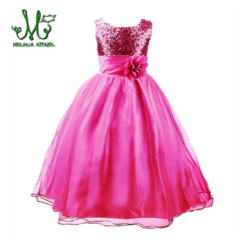 2017 New fashion Dress for Girl Princess Party dress for Baby Girl sleeveless Dress for 4 5 67 8 9 10 11 12 years
